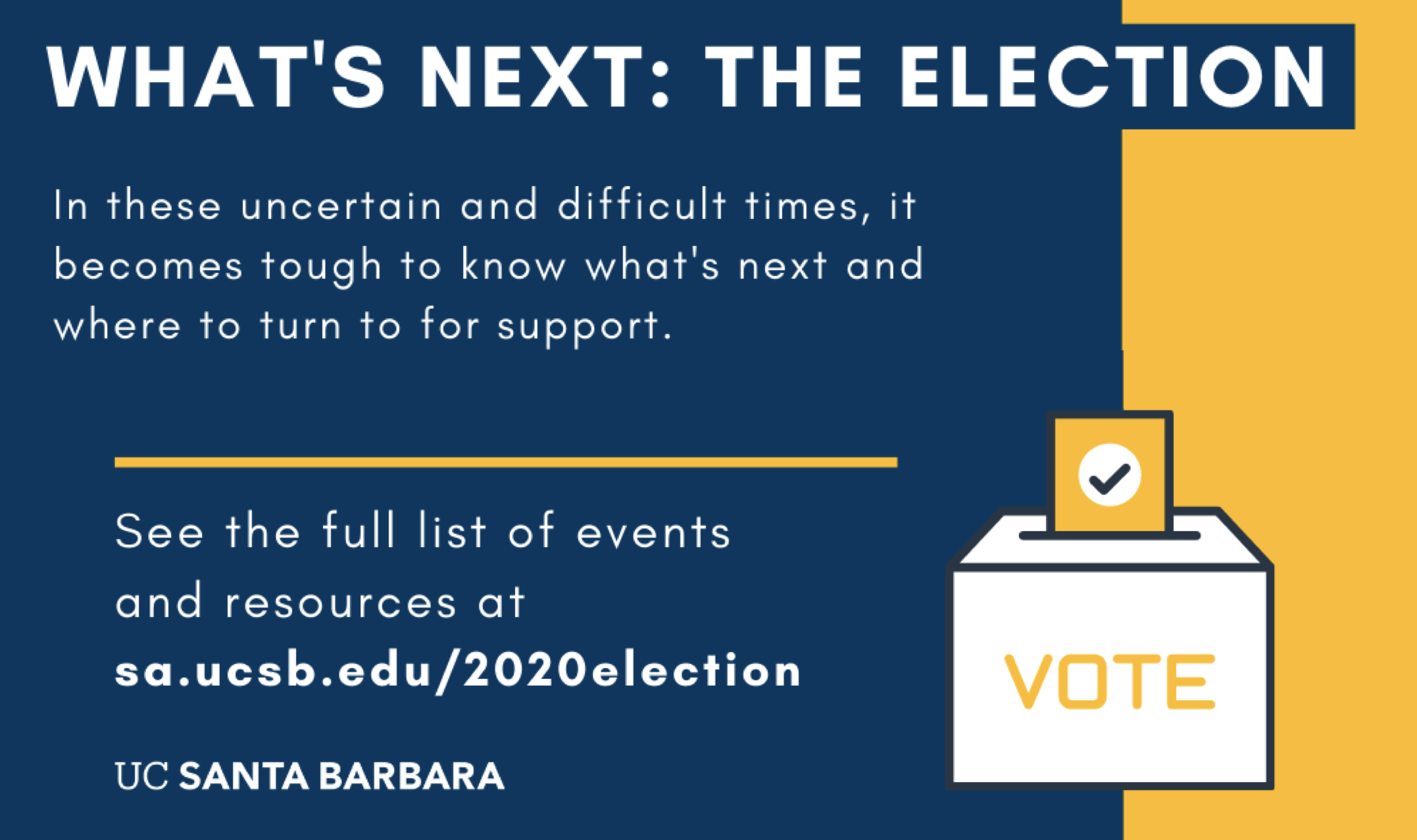 Election Events and Resources