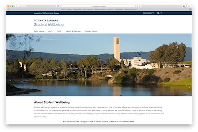 Image of Student Wellbeing website
